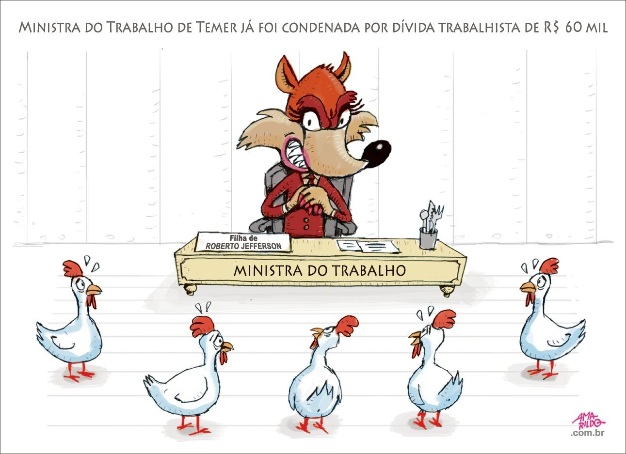 Charge do Amarildo - 05/01/2018. Crédito: Amarildo