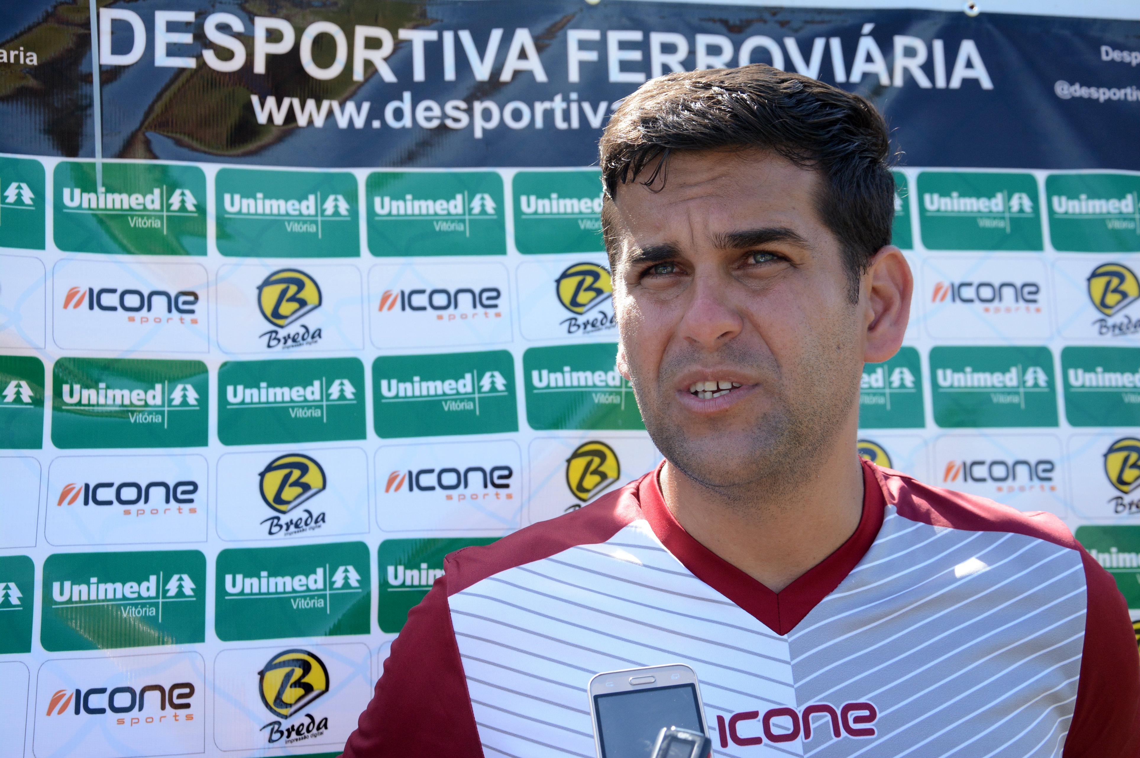 Rafael Soriano, técnico da Desportiva. Crédito: Henrique Montovanelli/Desportiva Ferroviária