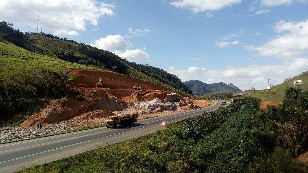 BR 101 será interditada em trecho de Ibiraçu para detonação de rocha. Crédito: Divulgação   ECO 101