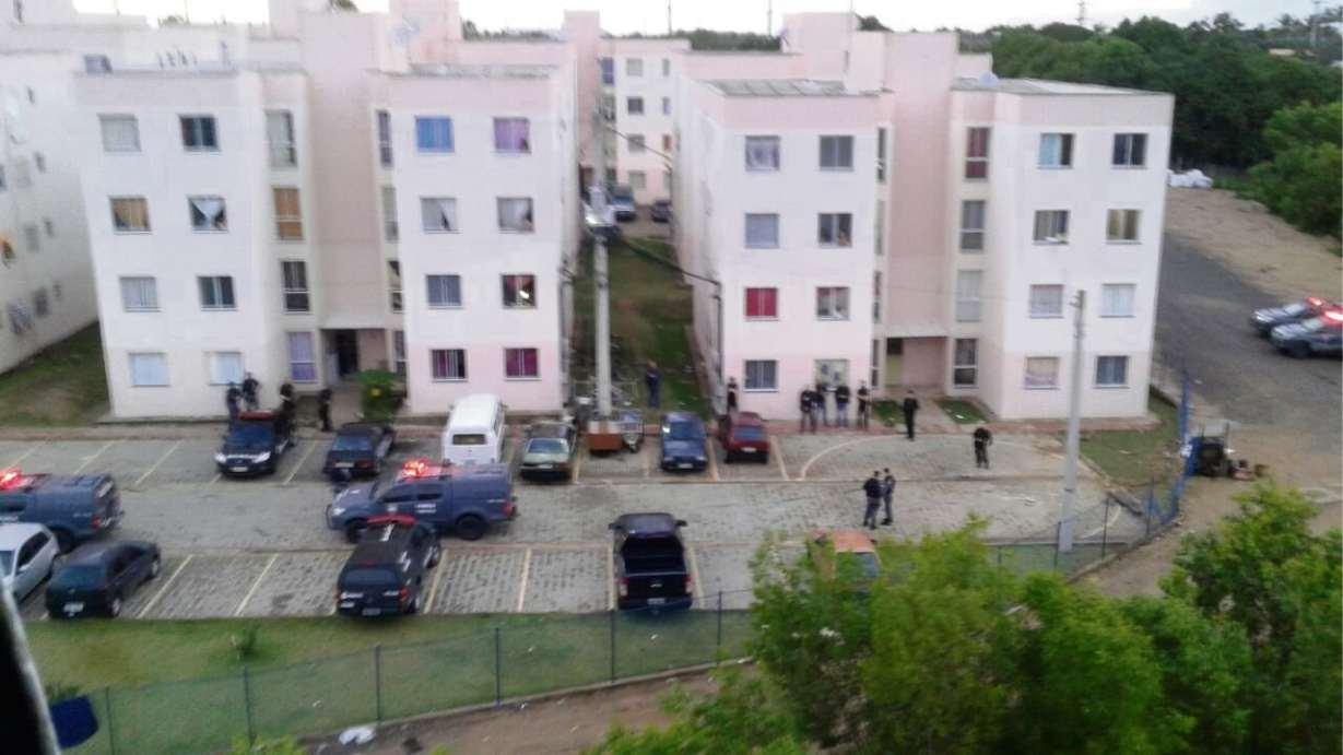 Imagem aérea do condomínio Ourimar. Crédito: Divulgação / PMES