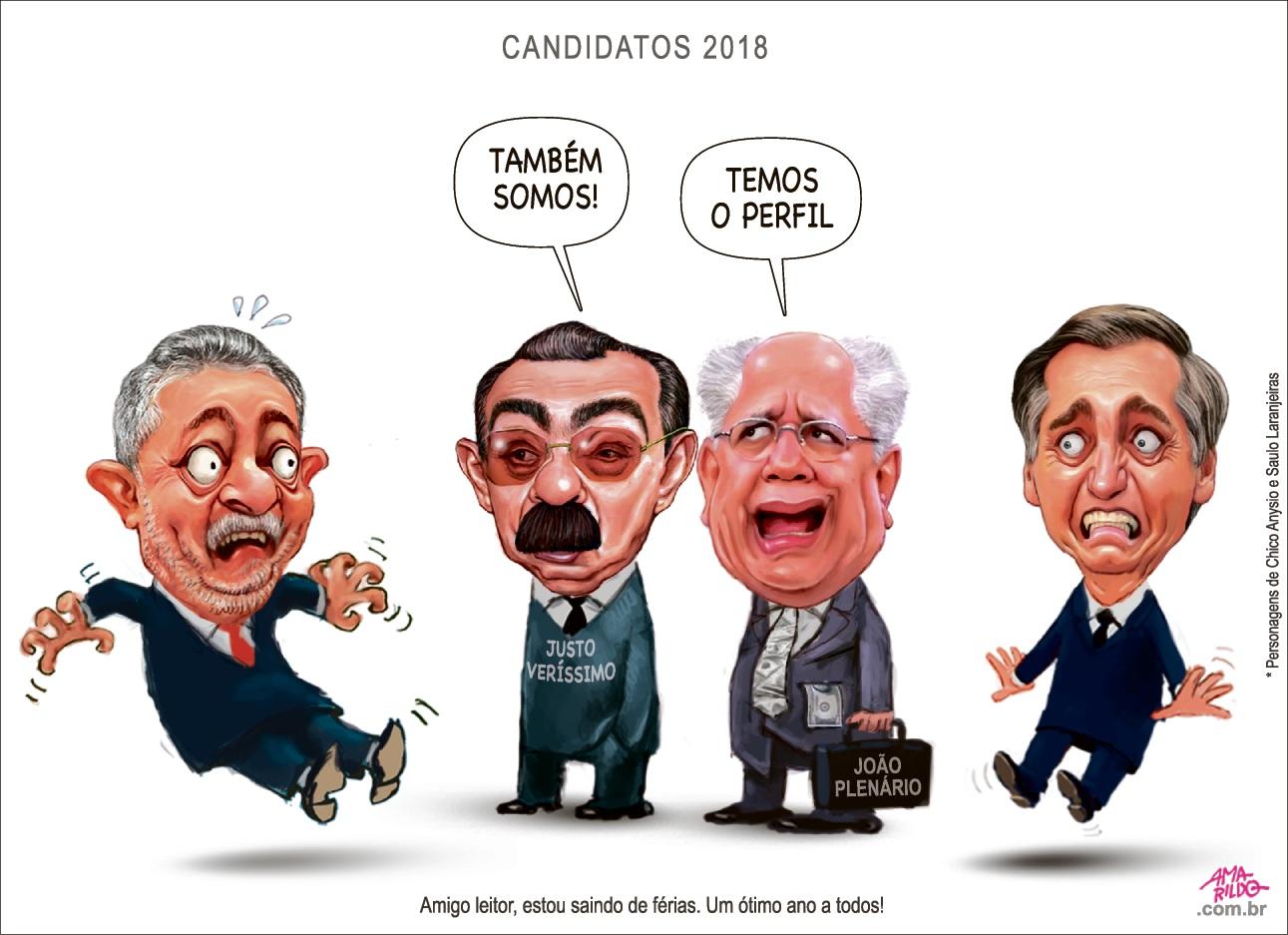 Charge Amarildo | 16/01/18. Crédito: Amarildo