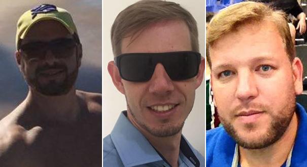 Gustavo Deriz Chagas, Marcos Roberto Khroling e Thiago Wain foram presos na operação 'Lama Cirúrgica'. Crédito: Reprodução/Sesp
