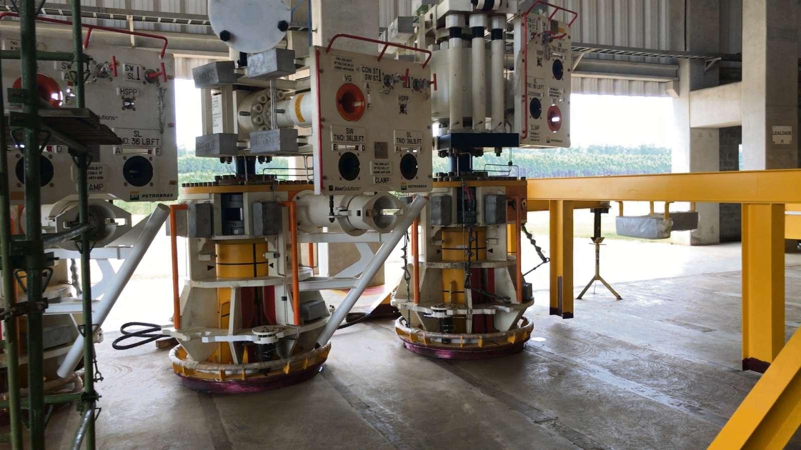 Oito equipamentos, chamados de manifolds, estão sendo fabricados em Aracruz pela Imetame . Crédito: Rafael Silva | Gazeta Online