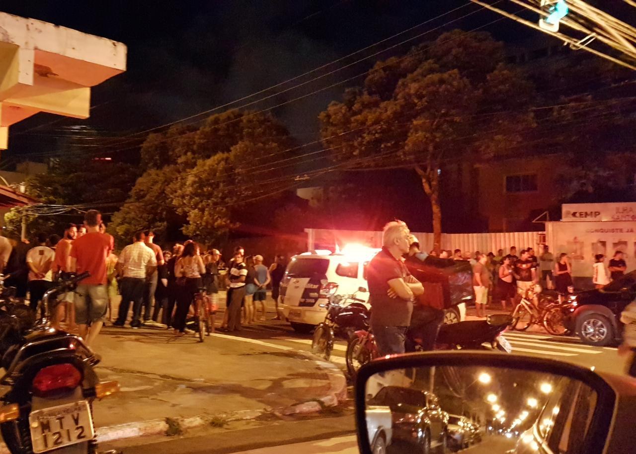 Duplo homicídio em Itaparica, Vila Velha. Crédito: Internauta/Via WhatsApp