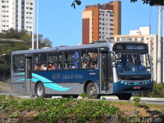 Ônibus da linha municipal de Vitória: circulação garantida até domingo. Crédito: Divulgação