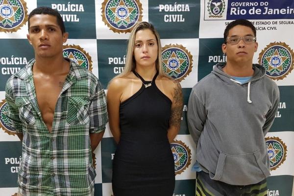 Miquelângelo, Gabriele e Plínio foi presos no Rio de Janeiro e vão responder por vários crimes