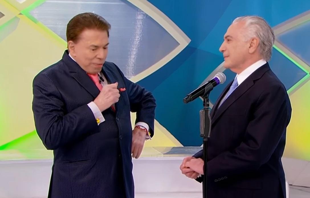 Silvio Santos recebe Michel Temer em programa e revolta internautas; Veja memes