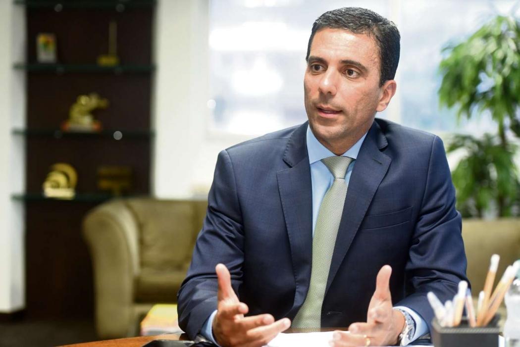 O presidente da Findes, Léo de Castro. Crédito: Carlos Alberto Silva