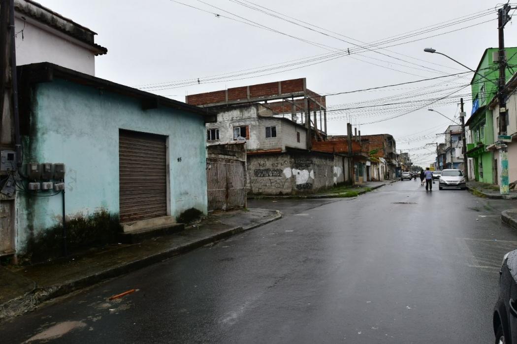 Rua de bar em que sargento da reserva da PM atirou contra cliente, na Serra. Crédito: Bernardo Coutinho   GZ