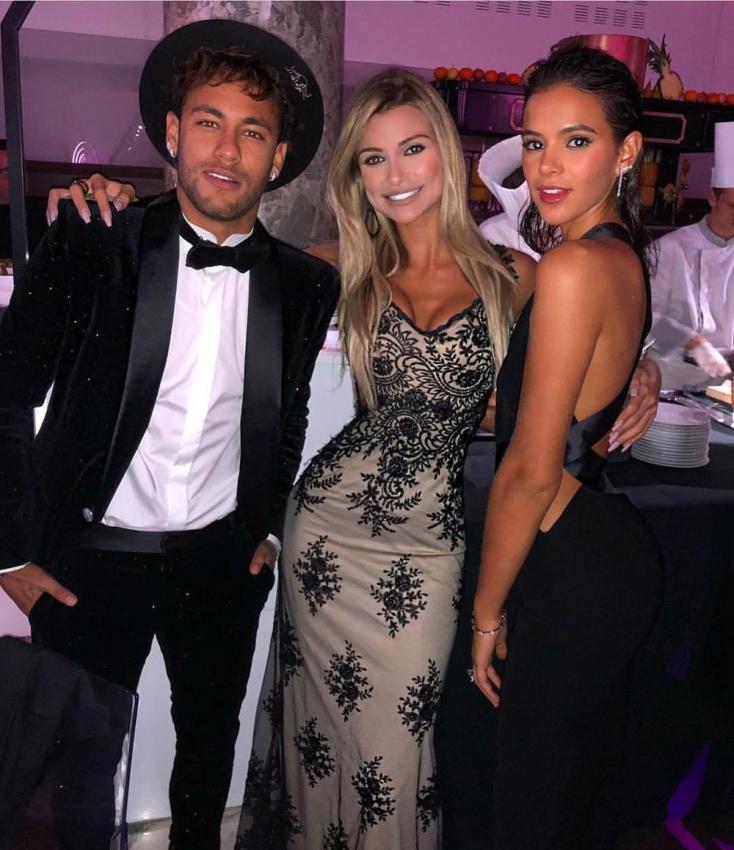 Neymar e Bruna Marquezine, na festa de aniversário de 26 anos do craque. Crédito: Reprodução/Instagram
