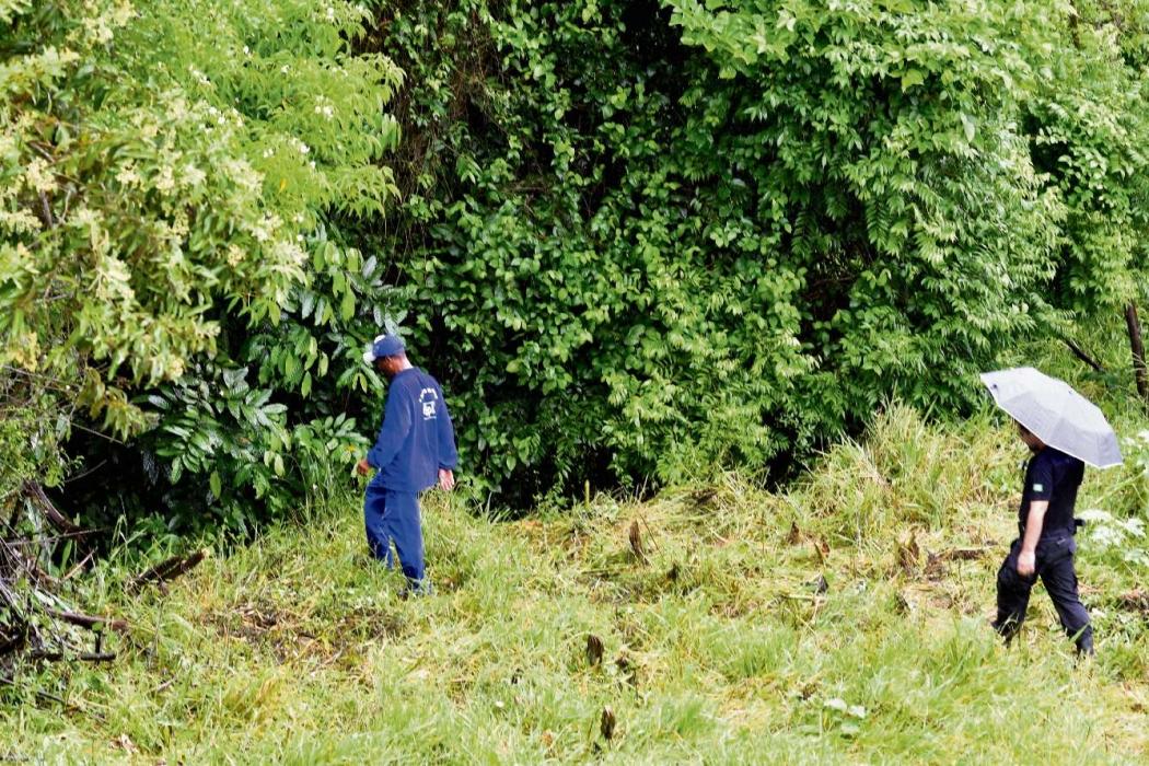 Local em que o corpo de Rodrigo foi encontrado. Crédito: Bernardo Coutinho  | GZ