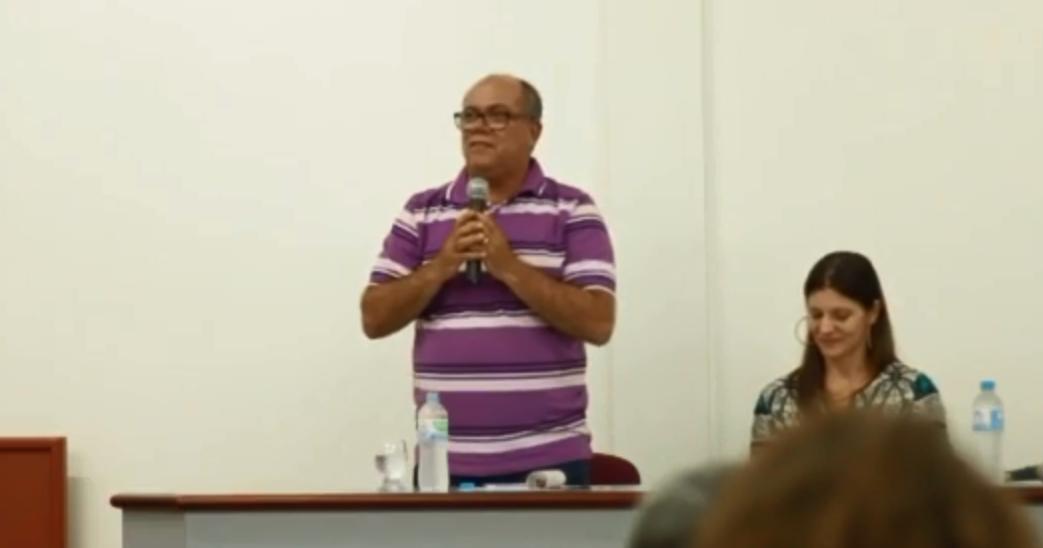 O diretor da Central Sindical Popular (CSP) David Lobão. Crédito: Reprodução/YouTube
