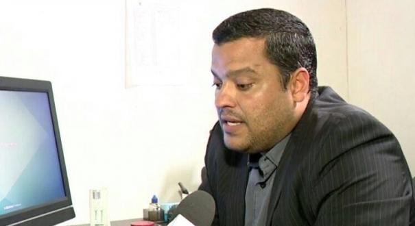 Delegado Adhemar Pereira Fully, da PCES, colidiu contra a moto de Fernando e fugiu após o acidente; o motociclista morreu. Crédito: Reprodução/TV Gazeta