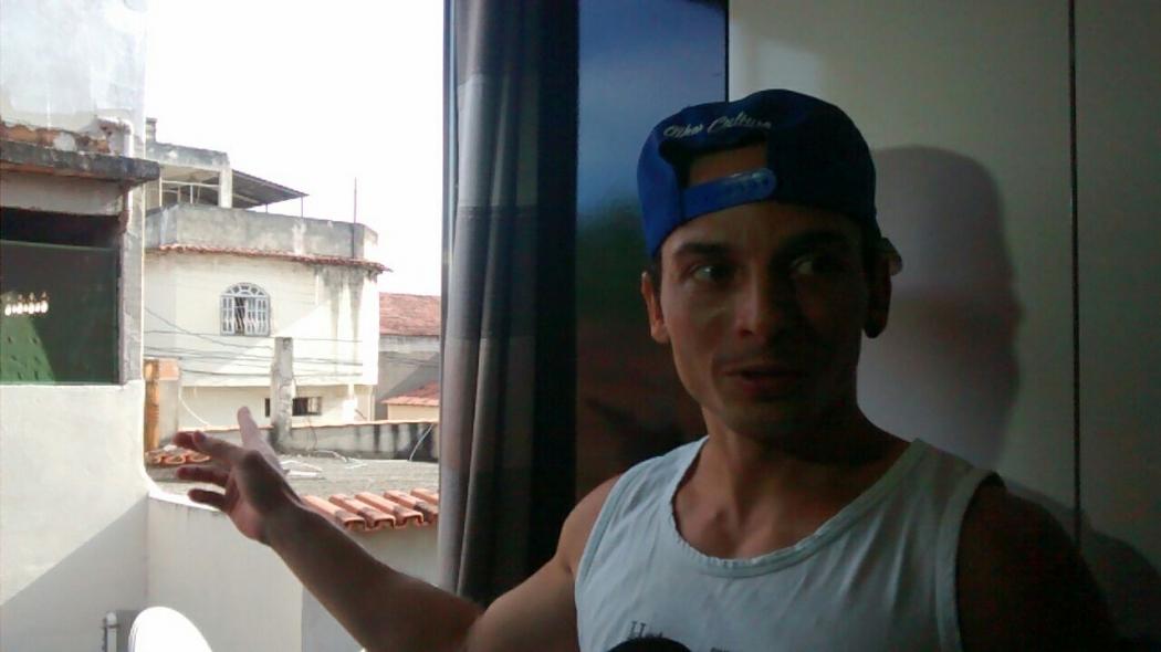 Wallace Loss Nunes, 27, teve a casa invadida na manhã desta quinta (15). Crédito: Elis Carvalho