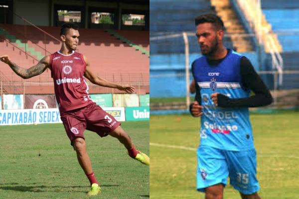 David e Anderson, destaques de Desportiva e Vitória, respectivamente. Crédito: Henrique Montovanelli/Desportiva e Wagner Chaló/Vitória