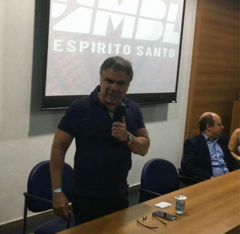 O empresário Flávio Rocha durante palestra do MBL na Ufes. Crédito: Raquel Gerde/MBL/Divulgação