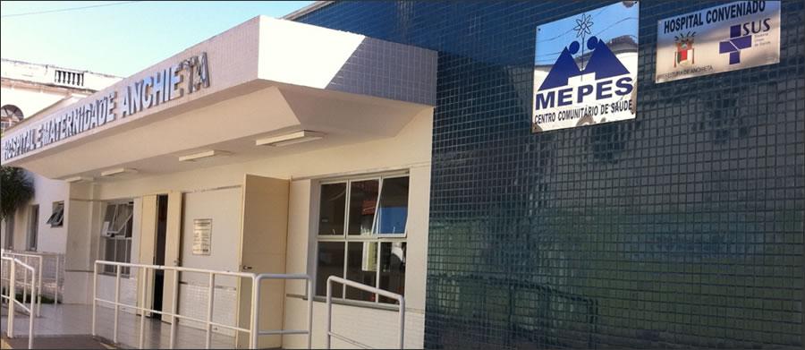 Hospital do Mepes, em Anchieta. Crédito: Reprodução/Mepes