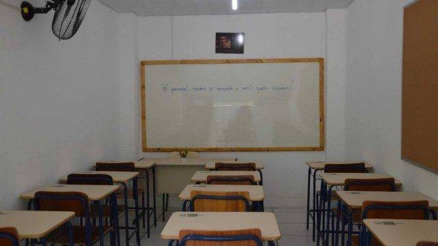 Sala de aula em penitenciária do Rio de Janeiro. Crédito: Reprodução/Seap