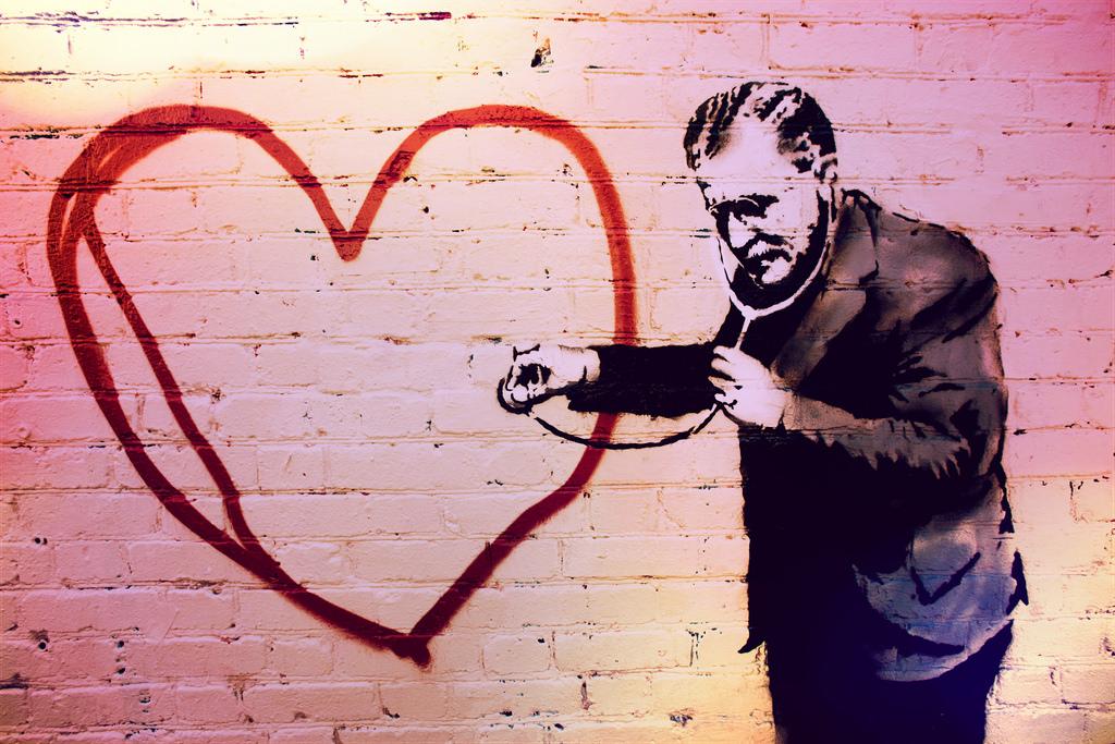 Grafite de Banksy. Crédito: Thomas Hawk/ Visualhunt