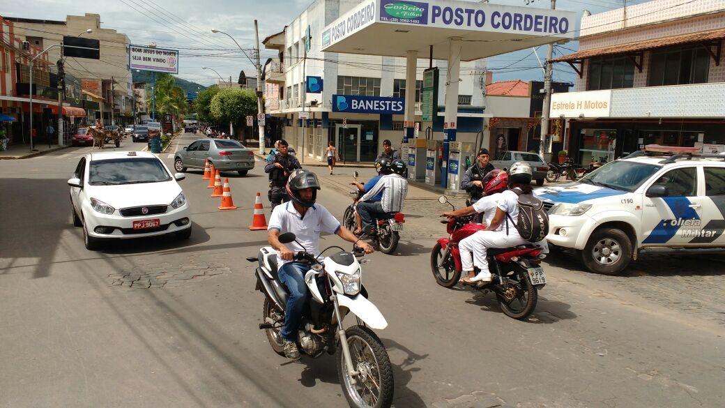 Ação da polícia em Bom Jesus do Norte. Crédito:  Divulgação | PM