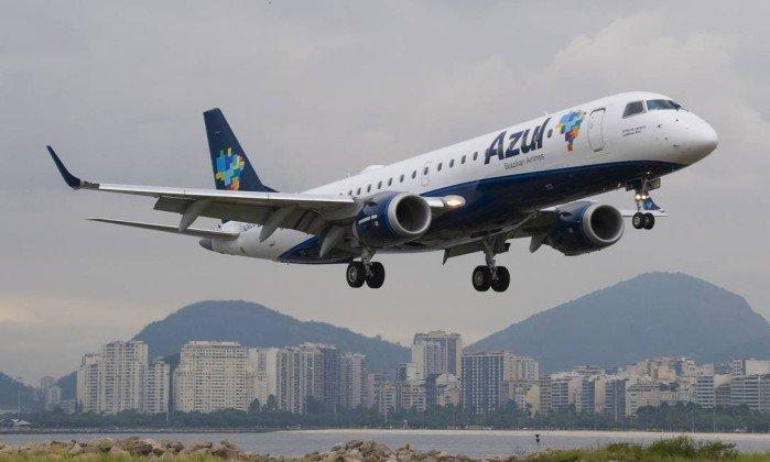 Azul anuncia voos na ponte aérea Rio-São Paulo. Crédito: Divulgação/Azul