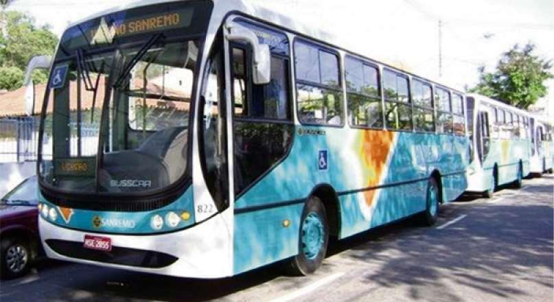Ônibus da Viação Sanremo que opera em Vila Velha. Crédito: Reprodução/NA
