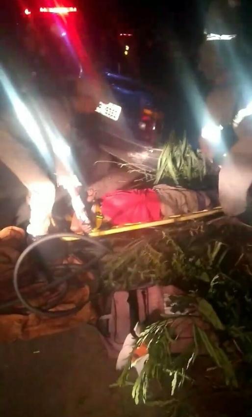 O Corpo de Bombeiros socorreu às vítimas. Crédito: Internauta   Gazeta Online