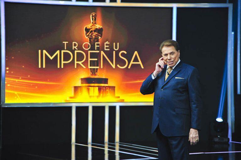 Silvio Santos no Trófeu Imprensa 2018. Crédito: Divulgação / SBT