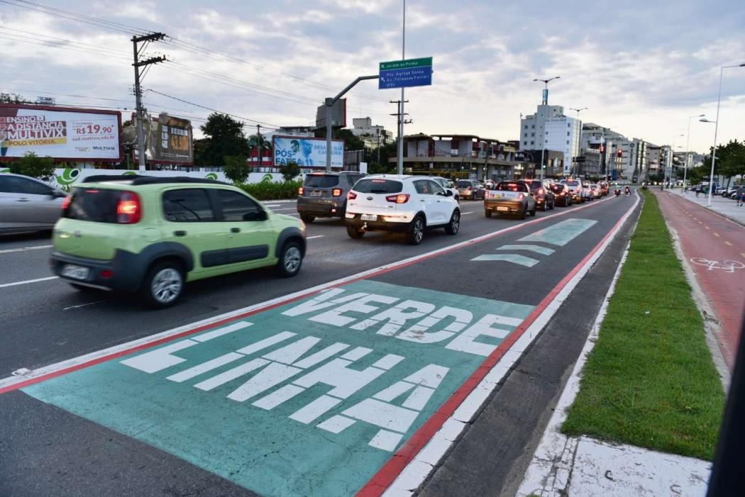 Linha Verde foi instalada na Avenida Dante Michelini. Crédito:  Fernando Madeira