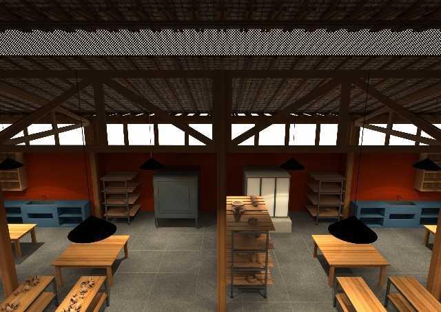 Projeto mostra como será o local da escola, no Mosteiro Zen Morro da Vargem, em Ibiraçu. Crédito: Divulgação | Mosteiro Zen Morro da Vargem