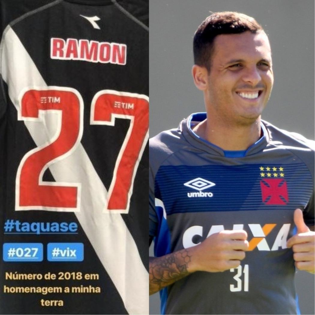Ramon vai usar a camisa 27 neste ano. Crédito: Reprodução