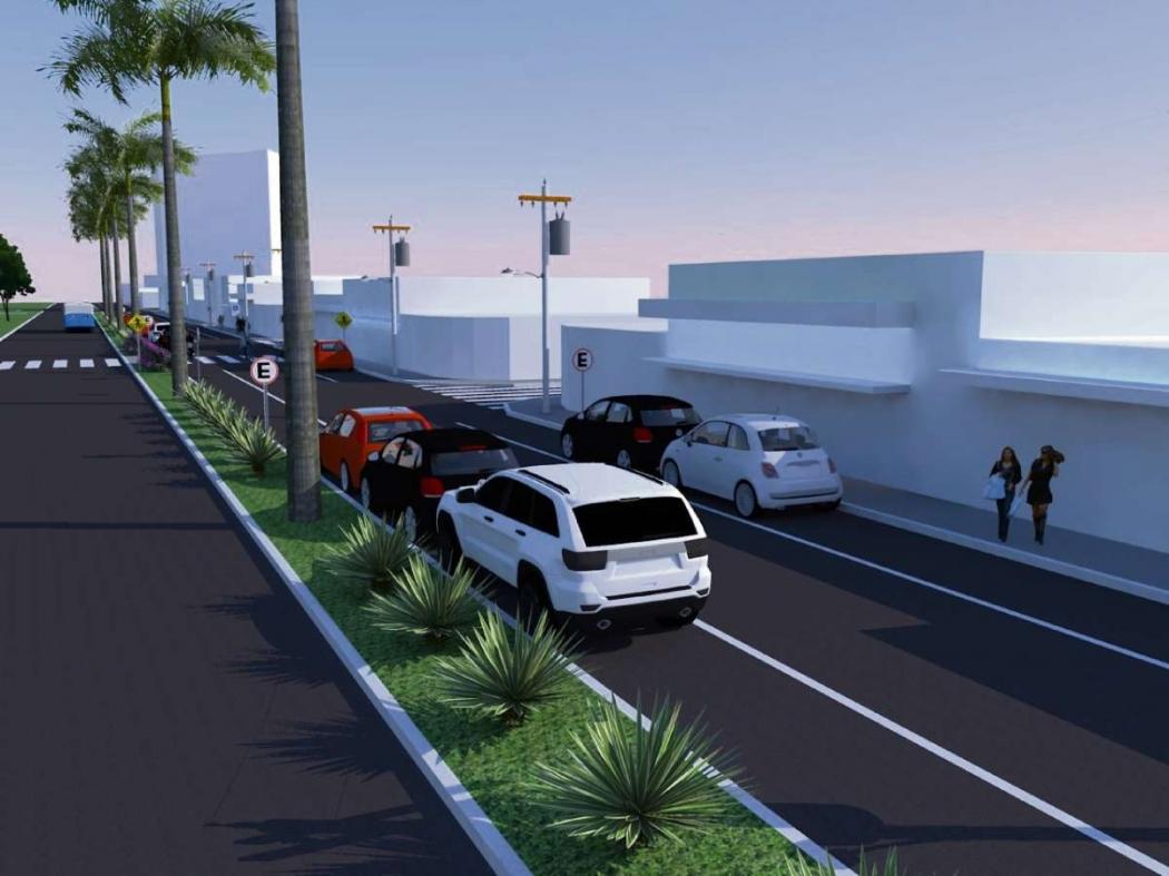 Perspectiva da nova Avenida Adalberto Simão Nader. Crédito: Divulgação | Prefeitura de Vitória