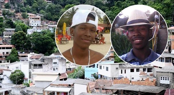 Ruan Reis (à esquerda) e Damião Reis (à direita): irmãos mortos na madrugada deste domingo com mais de 20 tiros cada