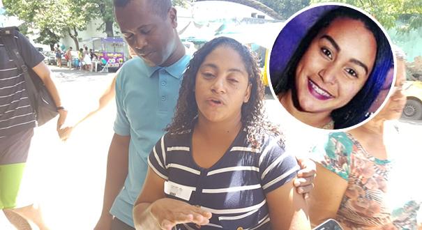 Luciene da Silva, mãe da jovem atingida por uma bala durante manifestação. Crédito: Rafael Silva
