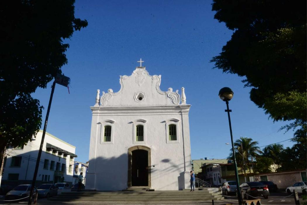 Igreja do Rosário na Prainha, no Sítio Histórico de Vila Velha. Bairro é dos que mais apresentam imóveis antigos. Crédito: Carlos Alberto Silva
