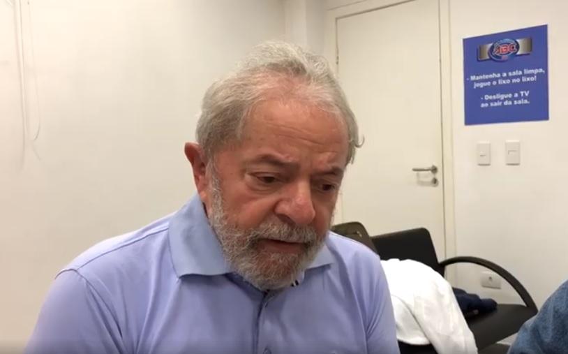 Lula. Crédito: Reprodução/Facebook Lula
