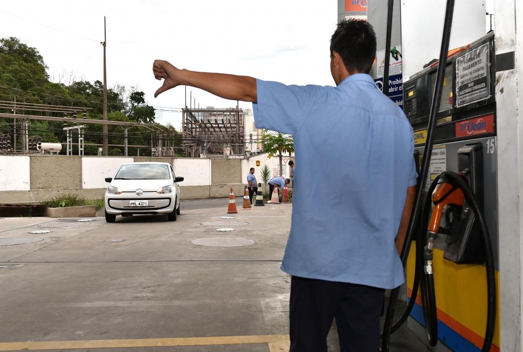 Postos da Grande Vitória já não têm combustível para vender. Crédito: Fernando Madeira | GZ