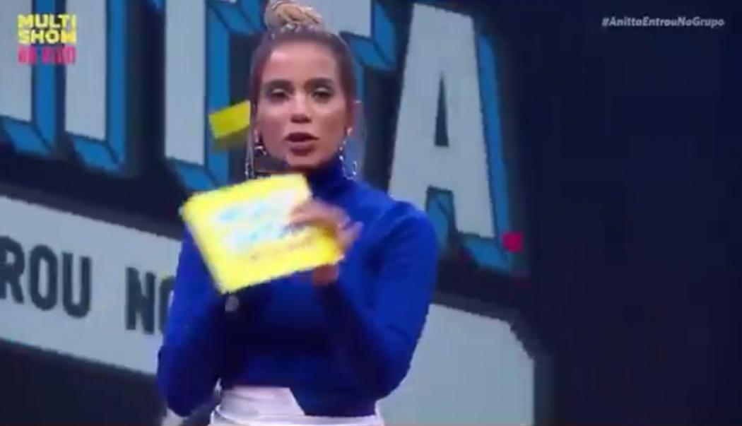 Anitta durante seu programa no Multishow. Crédito: Reprodução/Multishow