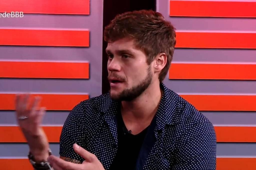 """Eliminado do """"BBB 18"""", Breno diz que não chegou a amar Paula. Crédito: Reprodução/TV Globo"""