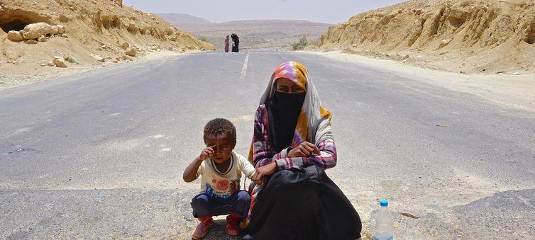 As condições dos migrantes e refugiados no Iêmen são extremamente precárias . Crédito: ONU/Ocha/Giles Clarke