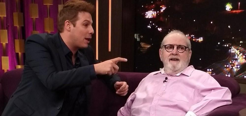 Fora da Globo, Jô grava entrevista no Porchat. Crédito: Reprodução/Twitter