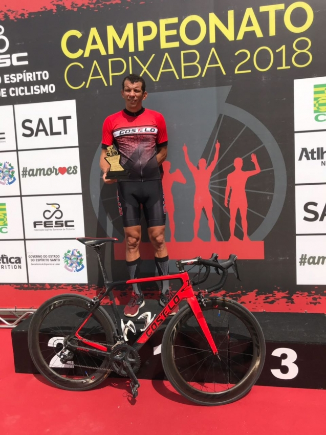 Alexandre Cardoso, ciclista capixaba natural de Cachoeiro de Itapemirim. Crédito: Acervo Pessoal