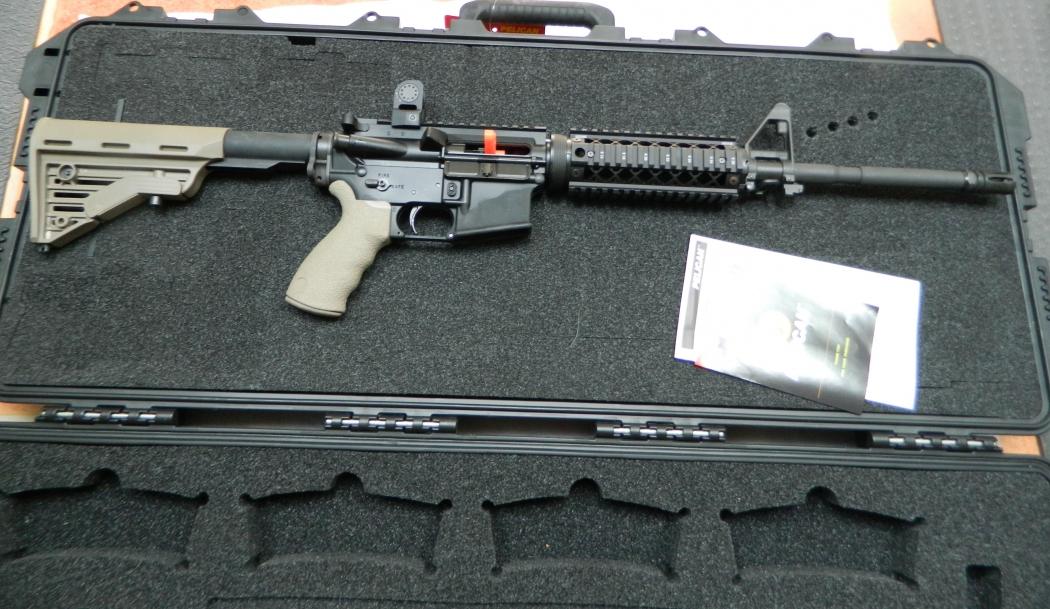 O fuzil Colt é utilizado pelas polícias do EUA e da Europa. Crédito: Gazeta Online