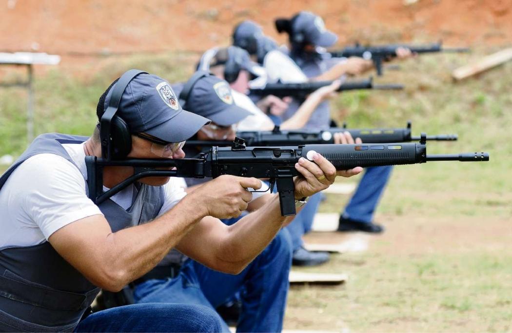 Treinamento de policiais militares no Centro de Formação da Polícia Militar em Cariacica. Crédito: Arquivo /Fábio Vicentini