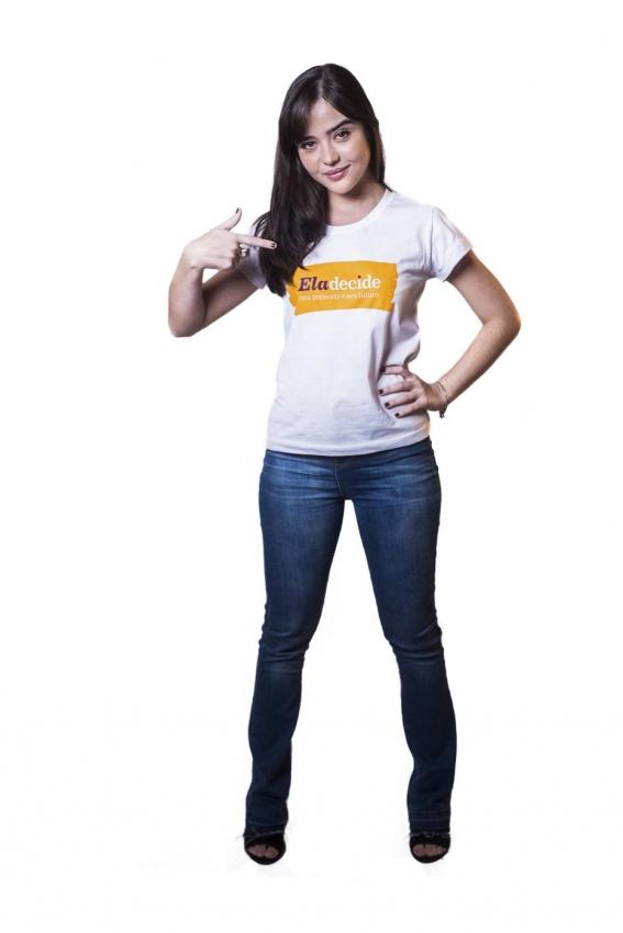 Atriz Bella Piero é uma das quatro personalidades que dão rosto à campanha 'Ela decide'. Crédito: Divugação/ONU
