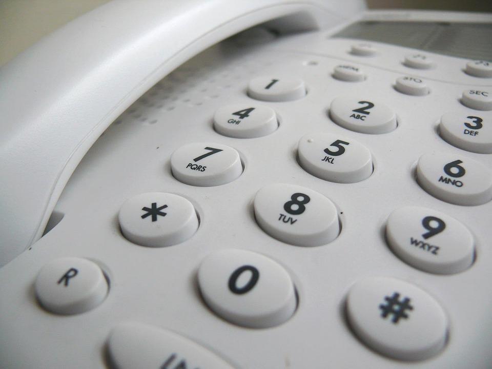 Telefone fixo. Crédito: Reprodução/Pixabay
