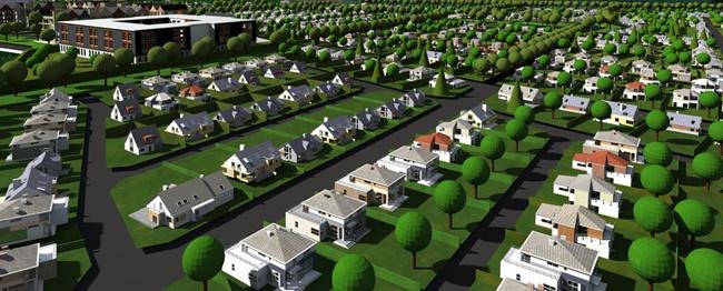Planta de condomínio fechado de casas. Crédito: Reprodução