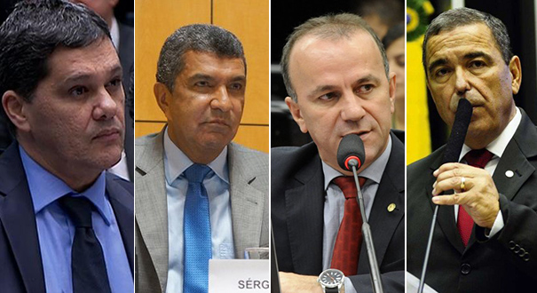 Ricardo Ferraço, Sérgio Vidigal, Helder Salamão e Marcus Vicente. Crédito: Reprodução