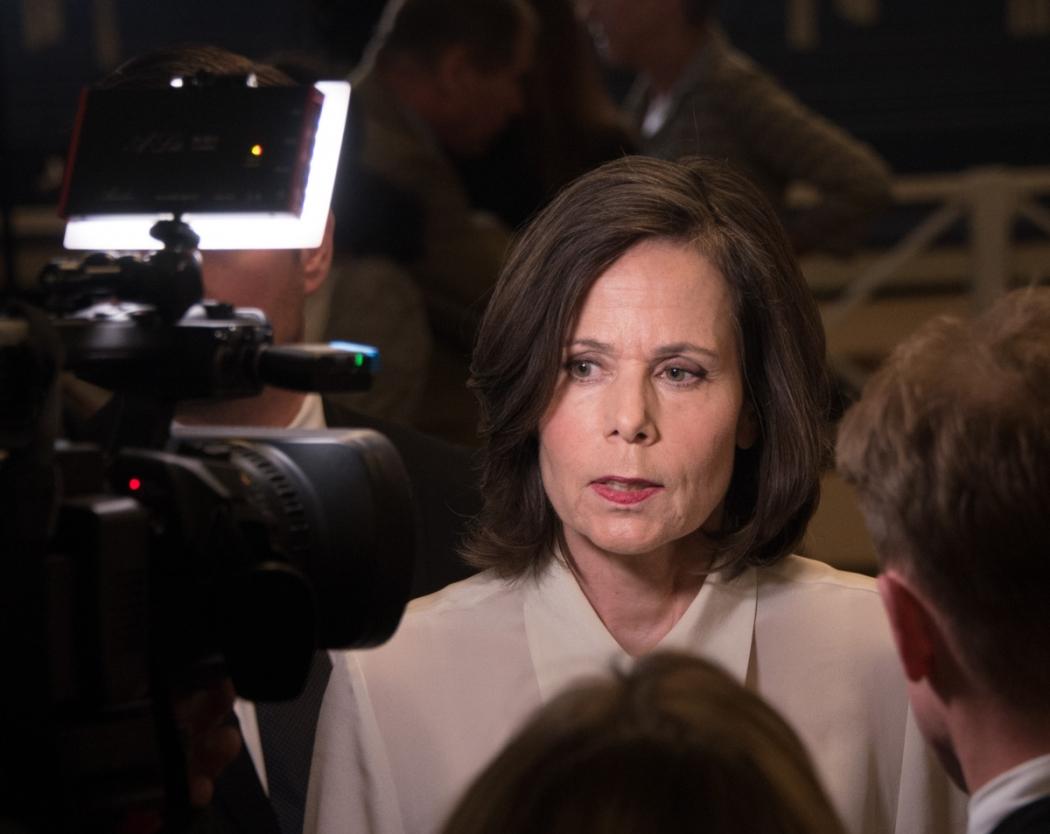 Sara Danius, ex- secretária permanente da Academia Sueca em 2017, que renunciou depois das denúncias. Crédito: Reprodução/Wikipedia