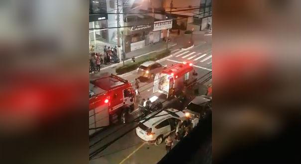 Mulher atingida por barra de ferro em Vila Velha. Crédito: Reprodução